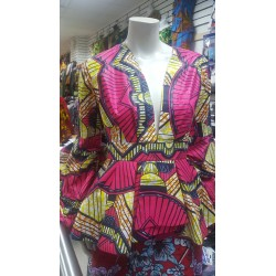 Handmade Cotton Batik African Print Top