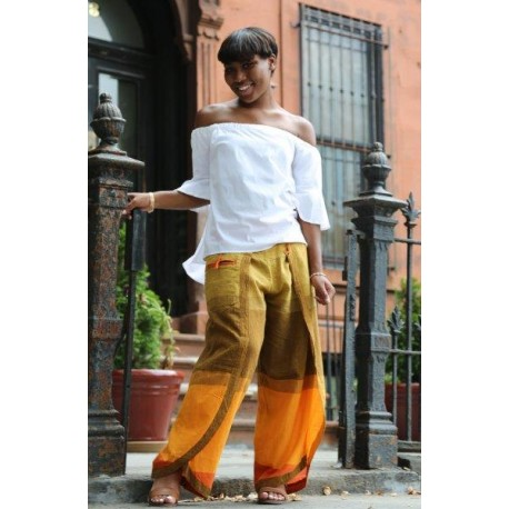 Multi- Tone Wrap Pants