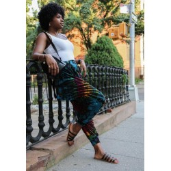 Tye Dye Leggings with side panels and pockets - Multi Color