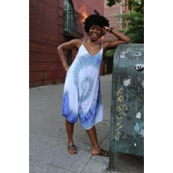 Indigo Tye Dye Jumper with adjustable shoulder straps