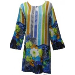 Color Printed Tunic Top